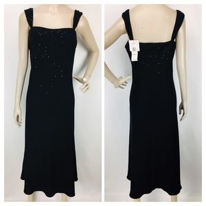 Vintage Jones Wear Black Sequined Cocktail Dress